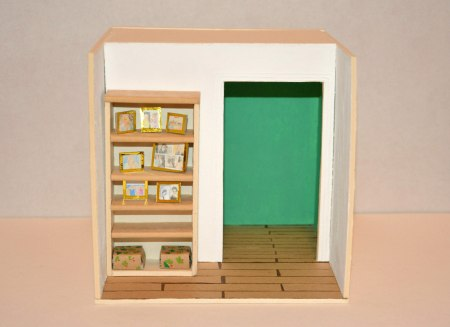 Bookcase, mixed technique, 2015