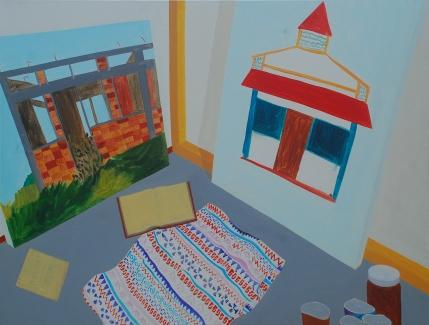 Studio, 75×100 cm, acrylic, canvas